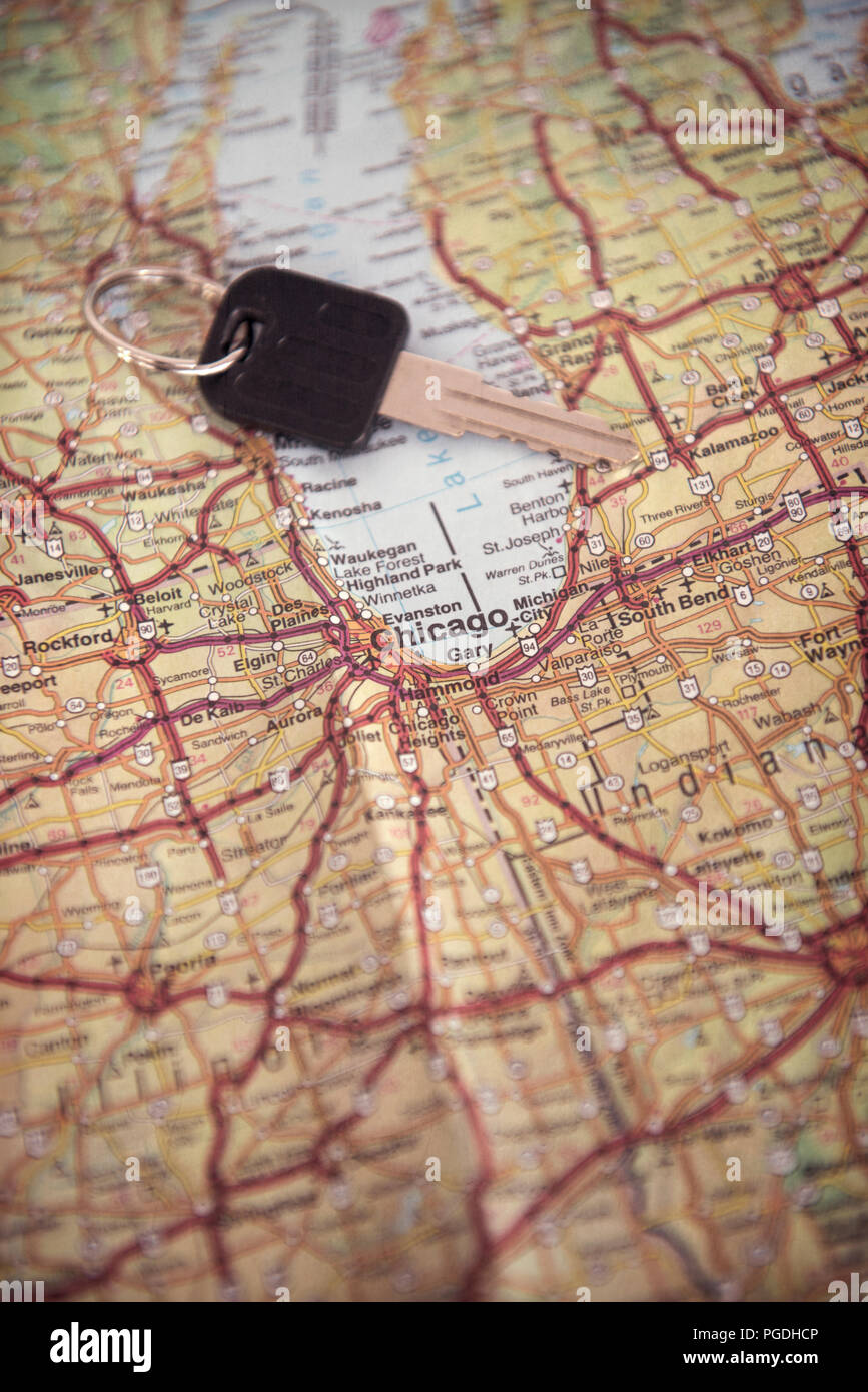 Map Of America Showing Chicago.Map Showing Chicago In The United States Of America With A