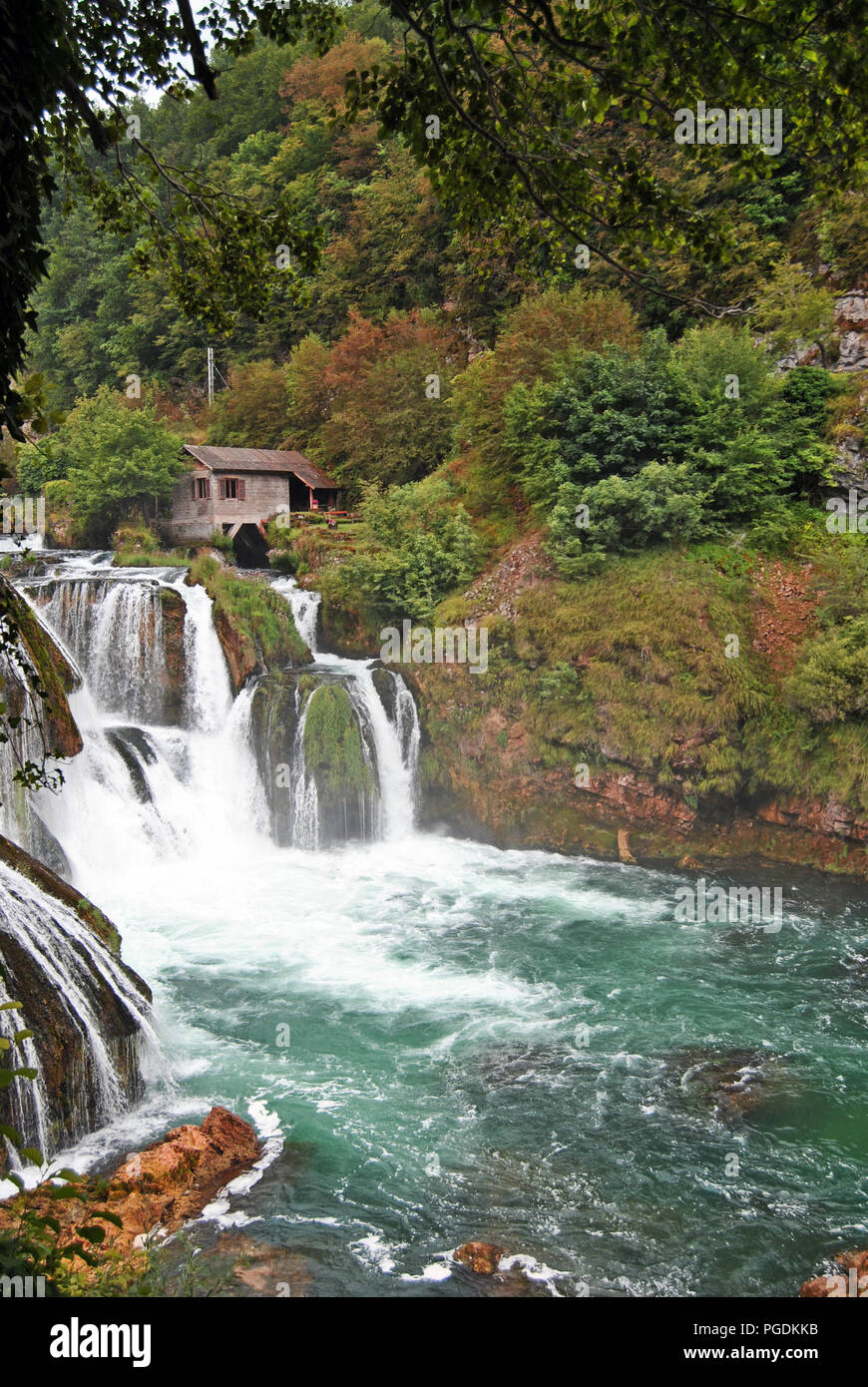 Waterfalls in the Una National Park, Bosnia-Herzegovina - Stock Image