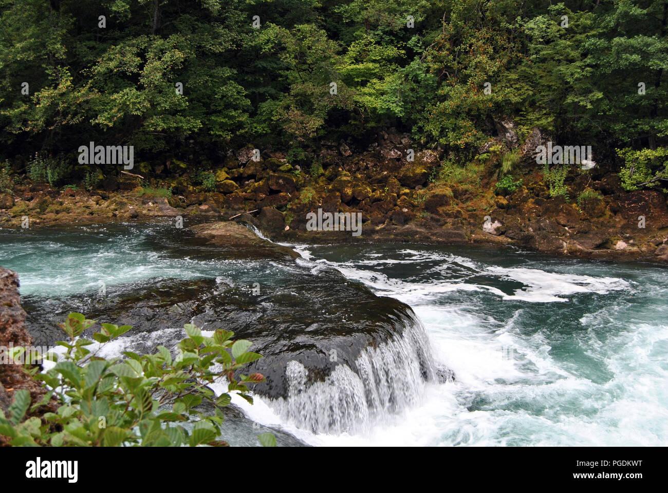 Waterfalls in the Una National Park, Bosnia-Herzegovina - Stock Image