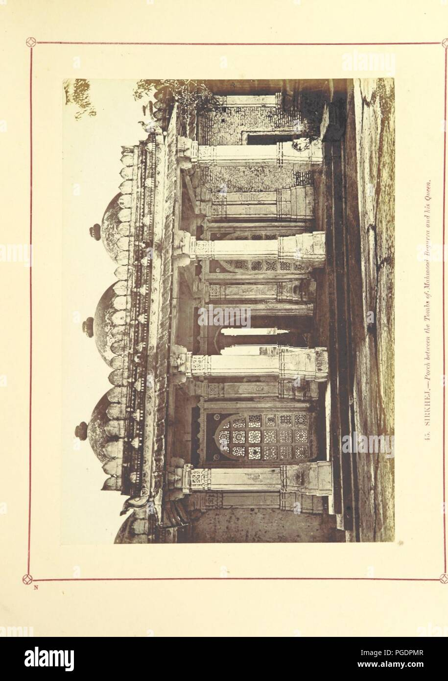 Image  from page 215 of 'Architecture at Ahmedabad, the Capital of Goozerat, photographed by Colonel Biggs, ... With an historical and descriptive sketch, by T. C. H., ... and architectural notes by J. Fergusson, etc' by Th0086. - Stock Image