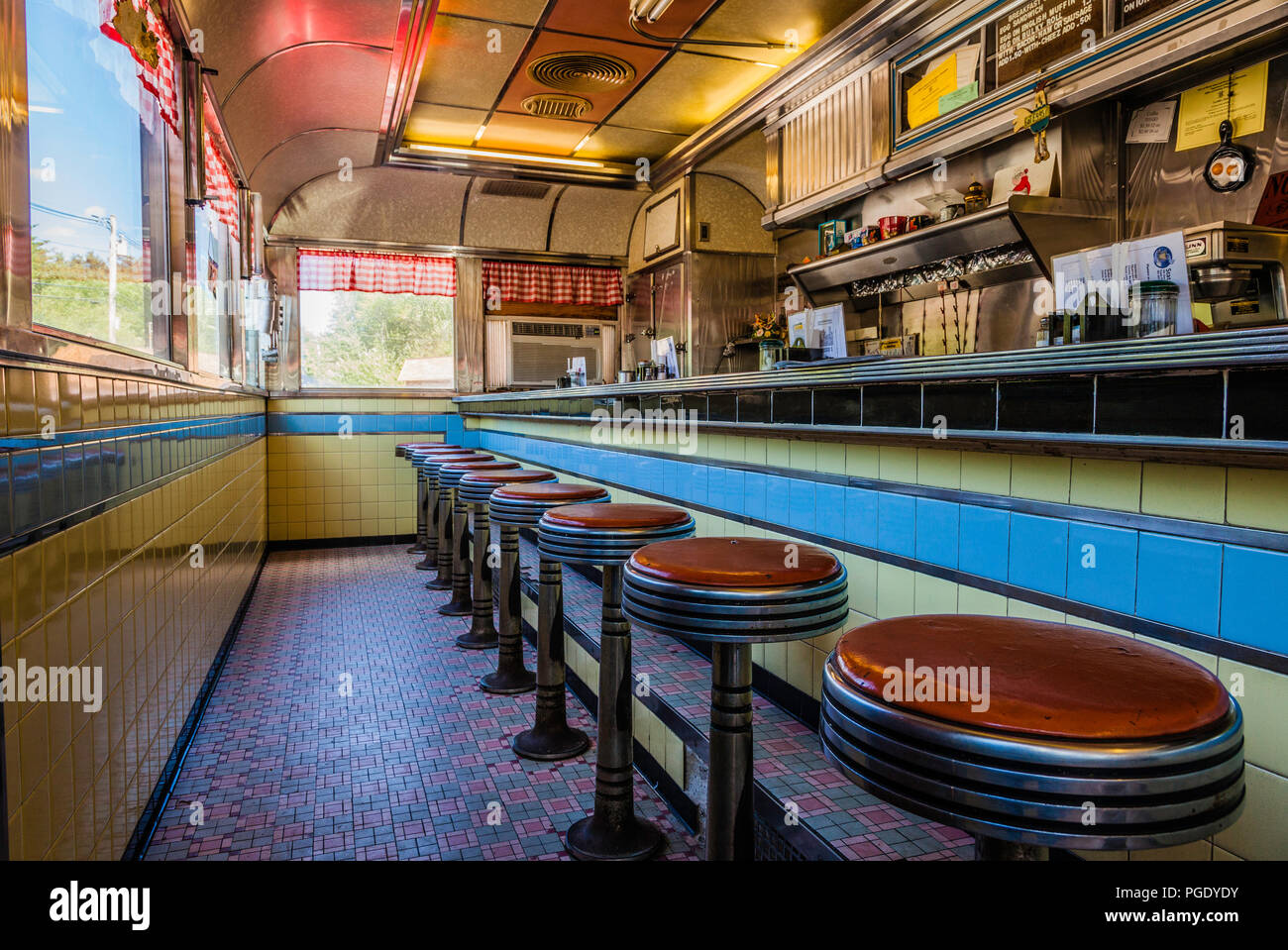 Stateline Diner   Foster, Rhode Island, USA Stock Photo