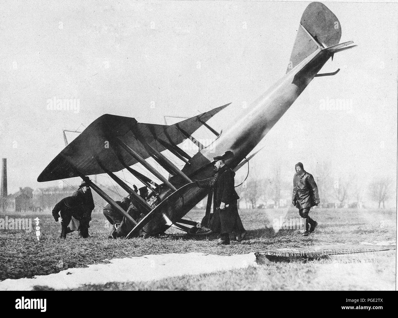 Airplanes - Accidents - Airplane Wrecks. Mineola, N.Y - Stock Image