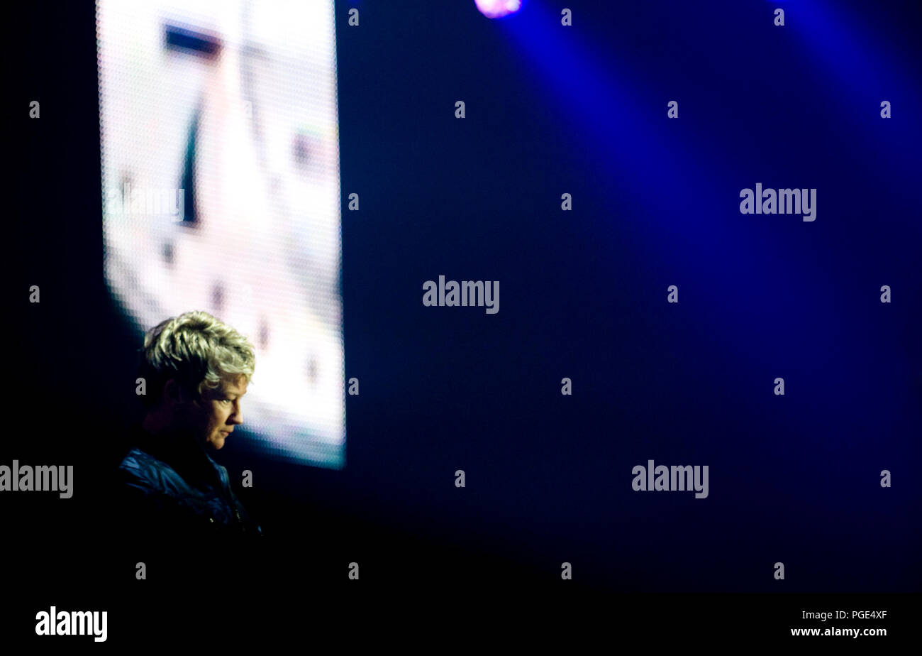 British new-wave poet and artist Anne Clark at the first Sinner's Day festival in Hasselt (Belgium, 01/11/2009) Stock Photo