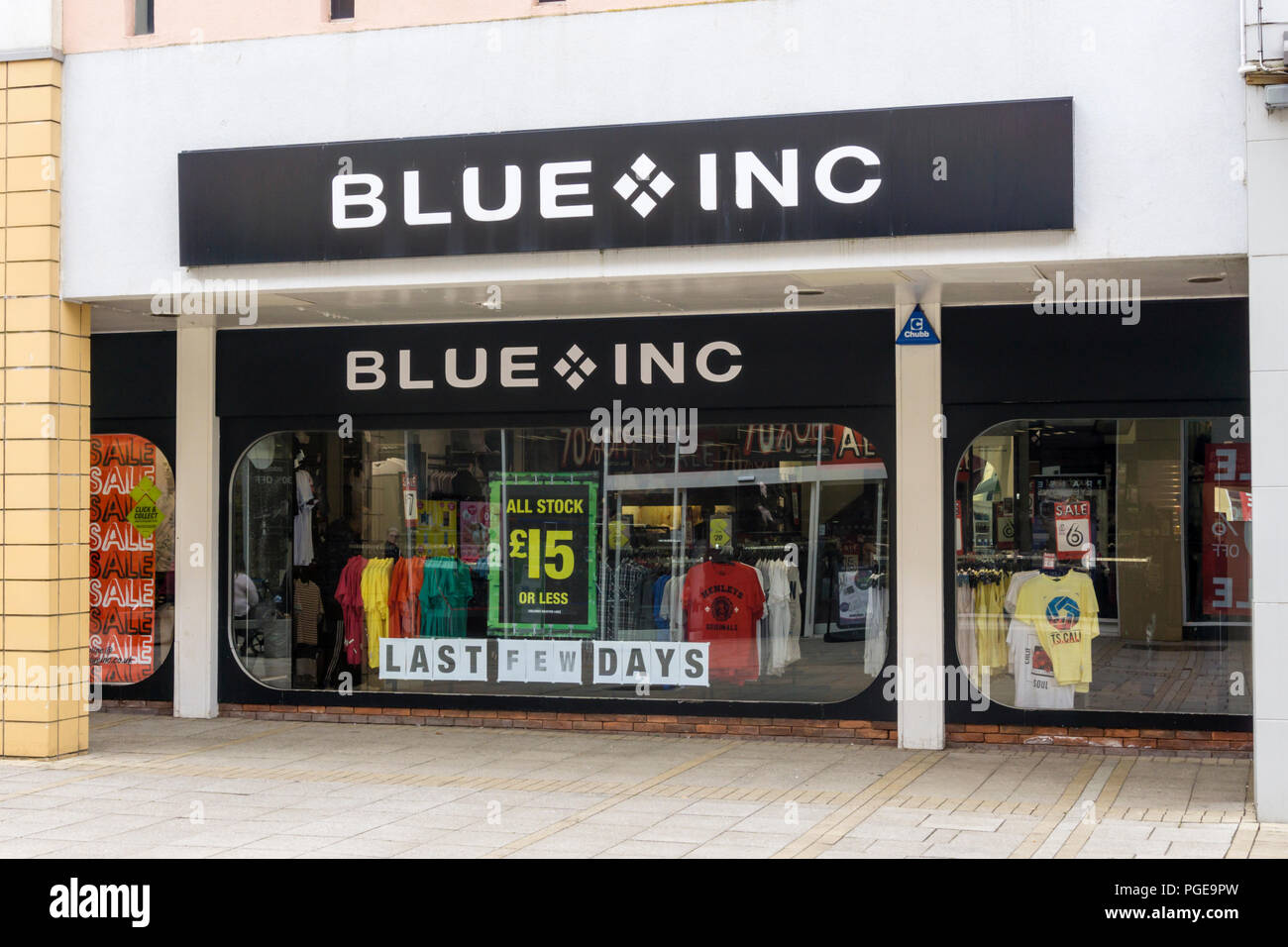 A branch of Blue inc fashion retail shops in King's Lynn town centre. - Stock Image