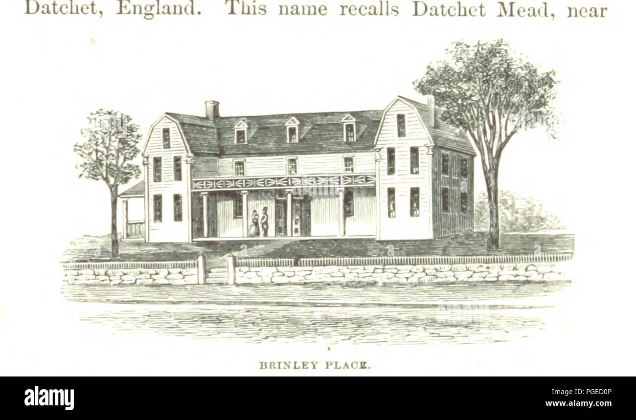 Image  from page 351 of 'The Town of Roxbury its memorable persons and places, ... with ... illustrations of its old landmarks and noted personages' . - Stock Image