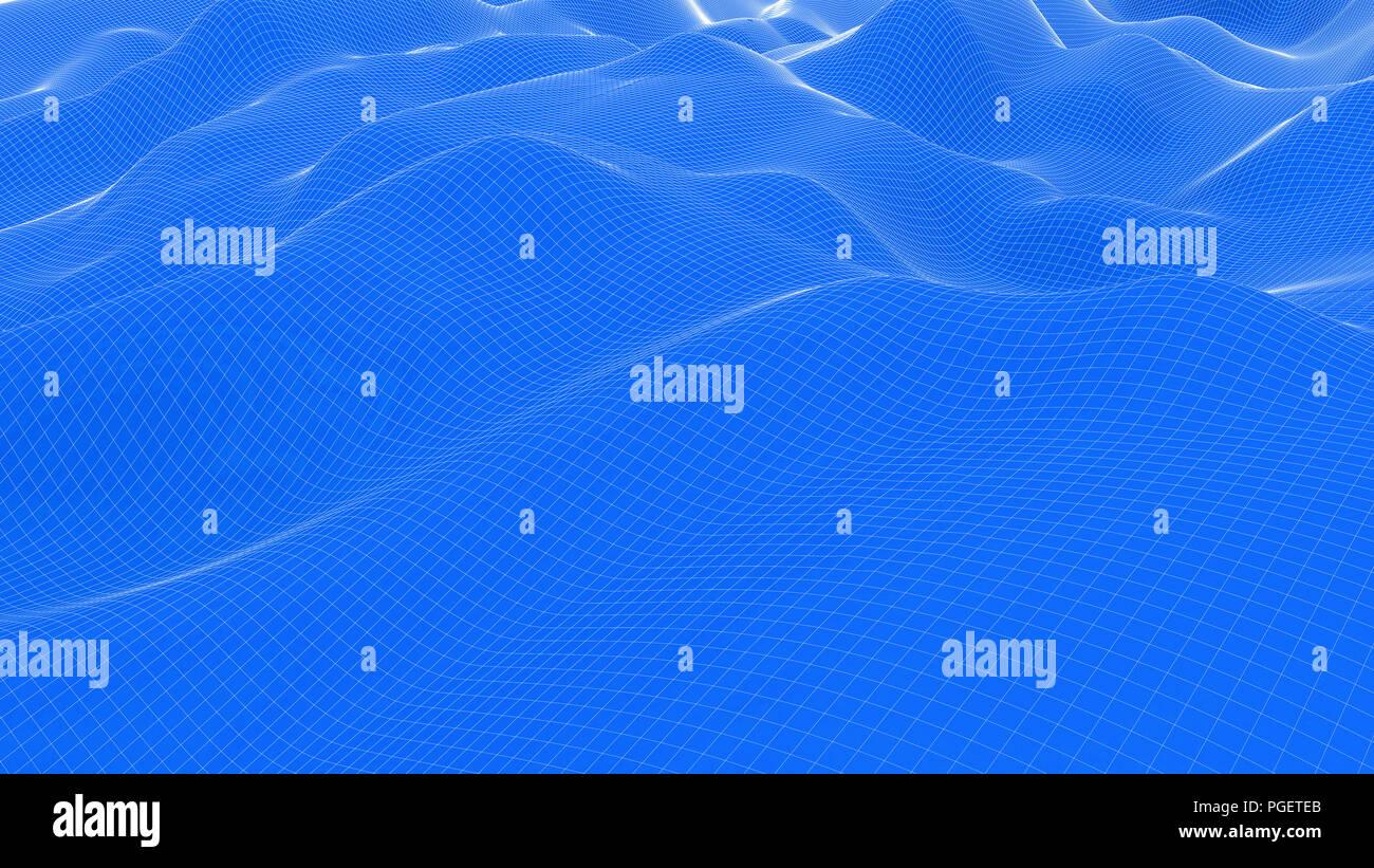 Grid,Blue, White Grid,Checkered, Dunes,Blue - Stock Image