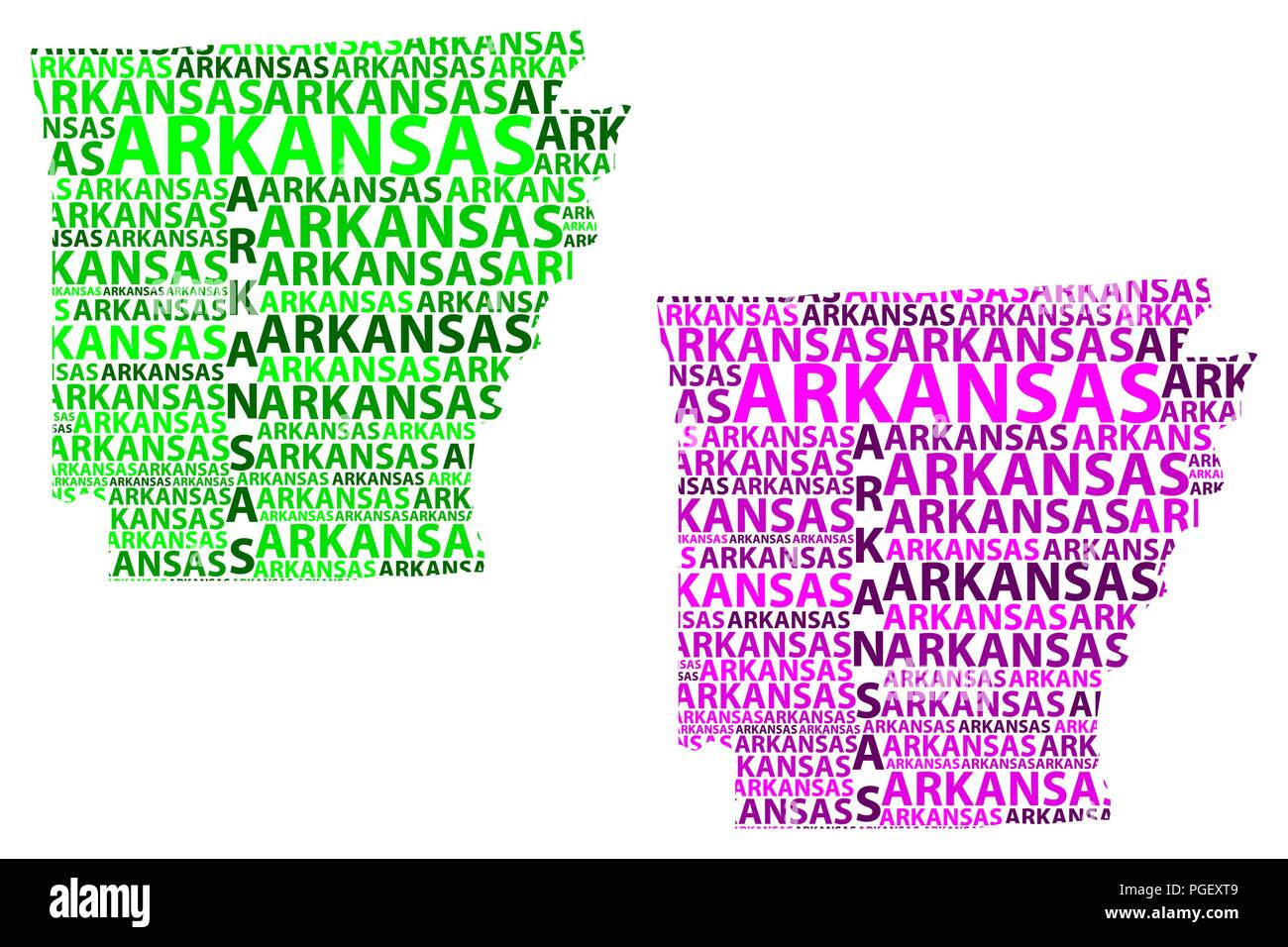 Arkansas United States Map.Sketch Arkansas United States Of America The Natural State The