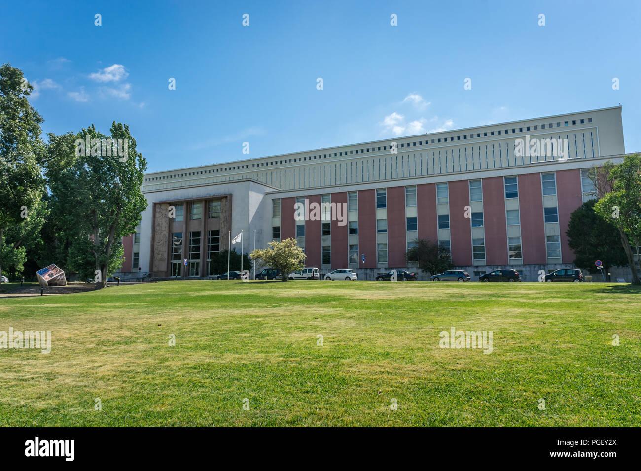 Biblioteca Nacional de Portugal (National Library), Campo Grande, Lisboa, Portugal - Stock Image