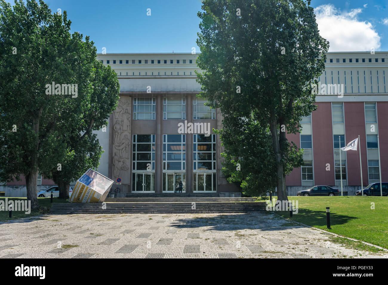 Biblioteca Nacional de Portugal (National Library), Campo Grande, Lisboa, Portugal Stock Photo