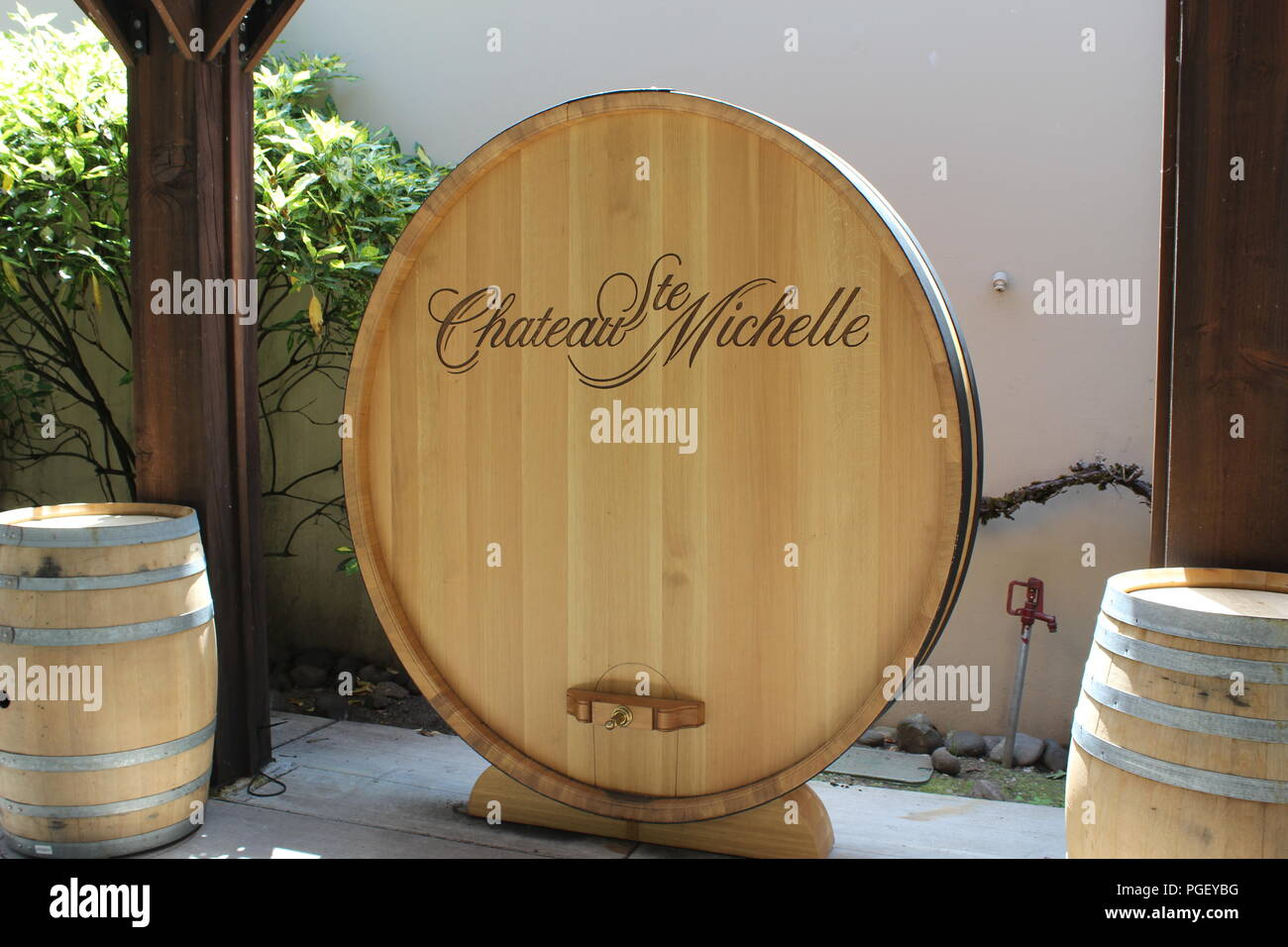 Chateau Ste. Michelle, Washington State's oldest winery, located in Woodinville, Washington, near Seattle. - Stock Image