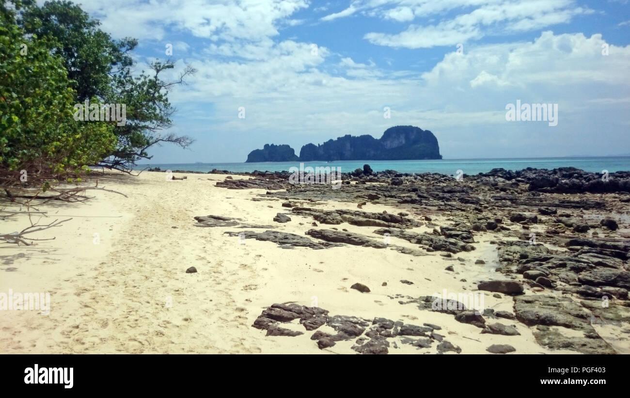 Beautiful beach in gulf of thailand - Stock Image