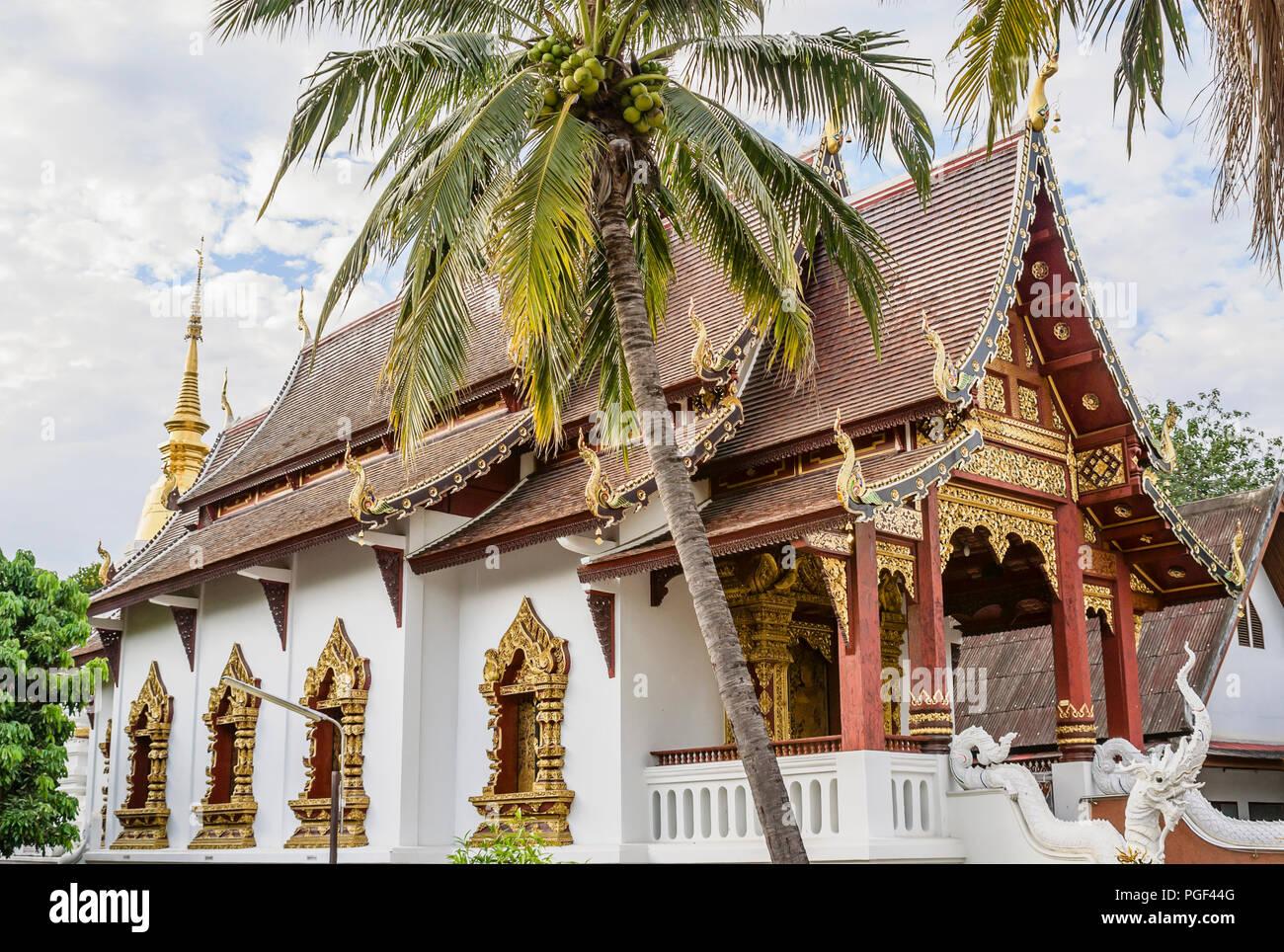Wat Chang Taem, Chiang Mai, Thailand - Stock Image