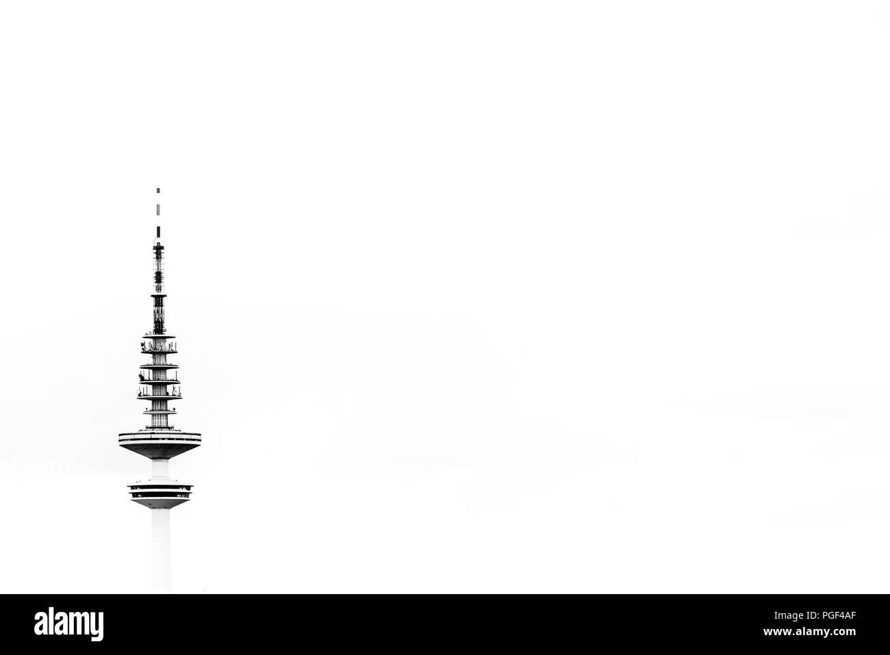 TV tower in Hamburg, Germany - Stock Image