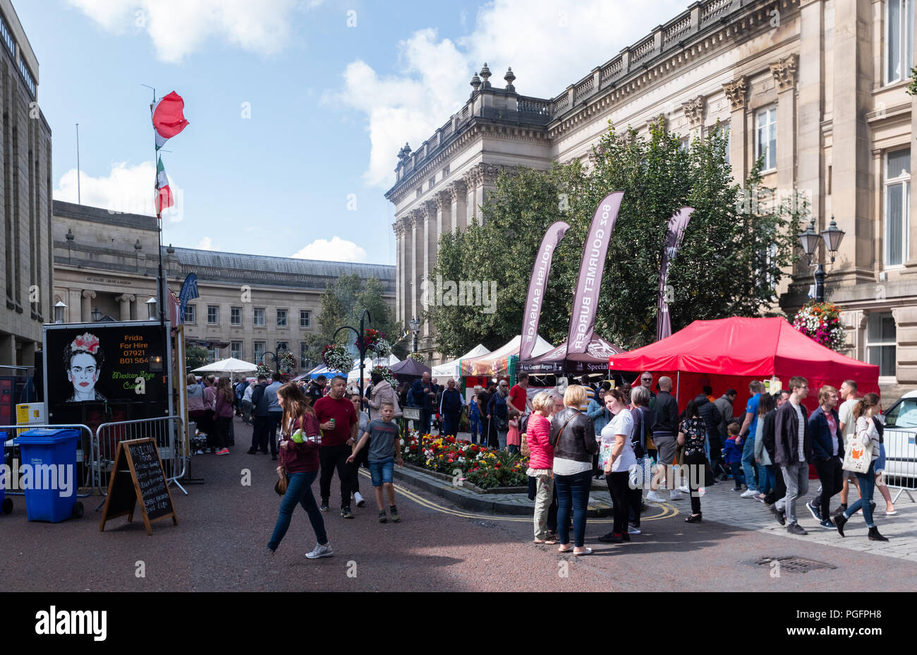 Bolton, UK. 25 August 2018. Photos taken on the busy Saturday afternoon of the three day food and drink festival at Bolton, Manchester which lasts from Friday 24th August to Monday 27th August. The festival is the largest in the North West of England. Credit: Ruaux/Alamy Live News - Stock Image