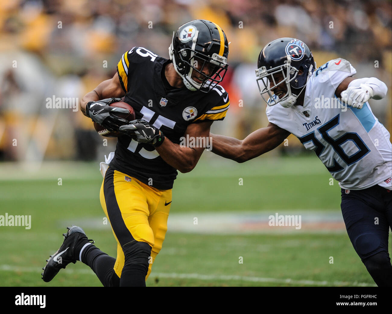 8644e01a7 Pittsburgh, USA. 25 August 2018. Steelers Trey Griffey #15 during the  Pittsburgh