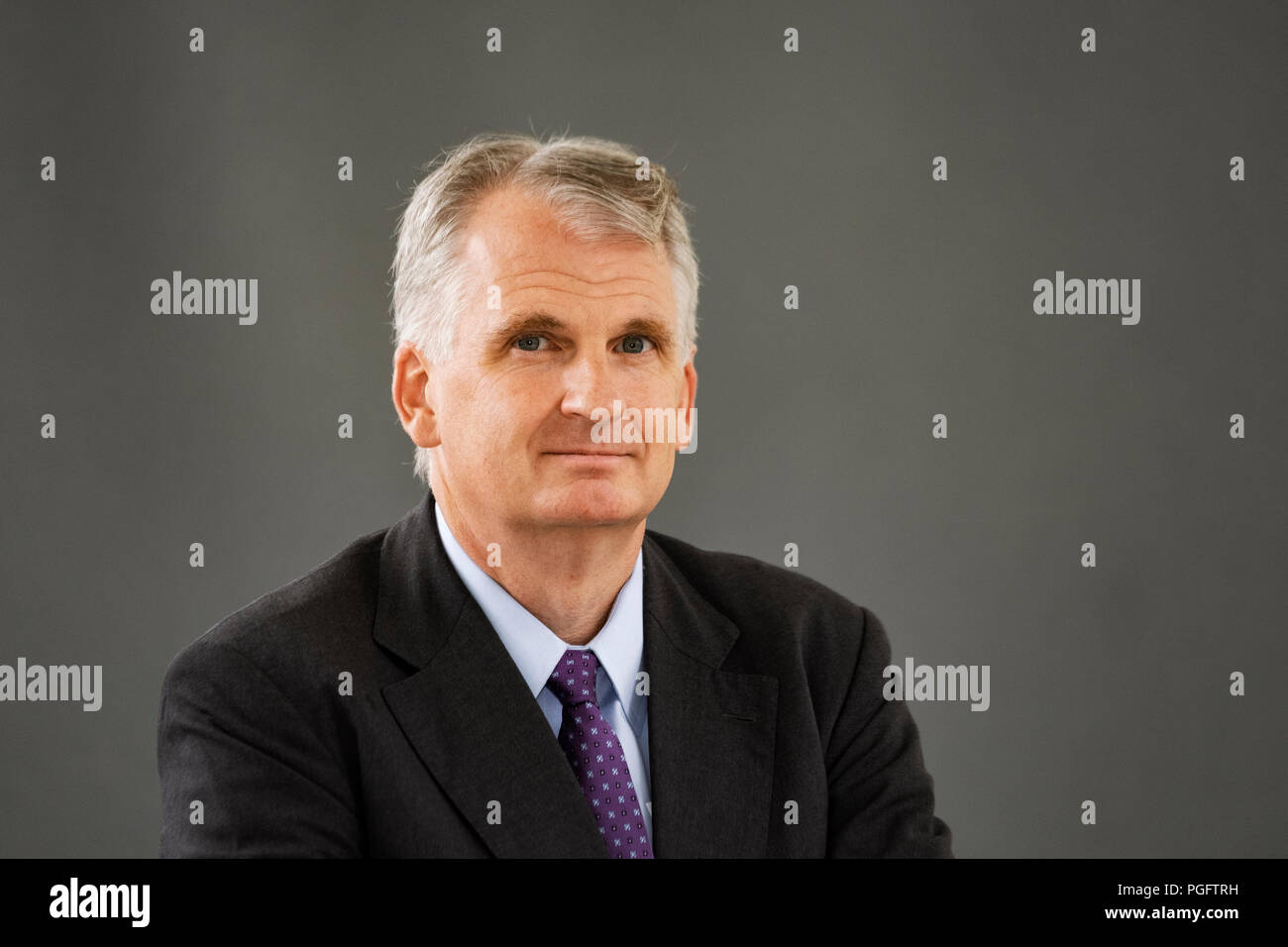 Edinburgh, Scotland, UK. 26 August, 2018. Pictured; Timothy Snyder, in his book ÒThe Road to UnfreedomÓ , he shows how PutinÕs authoritarianism is spreading, aided by Russian warfare in Ukraine and cyber attacks in Europe and America. Credit: Iain Masterton/Alamy Live News - Stock Image