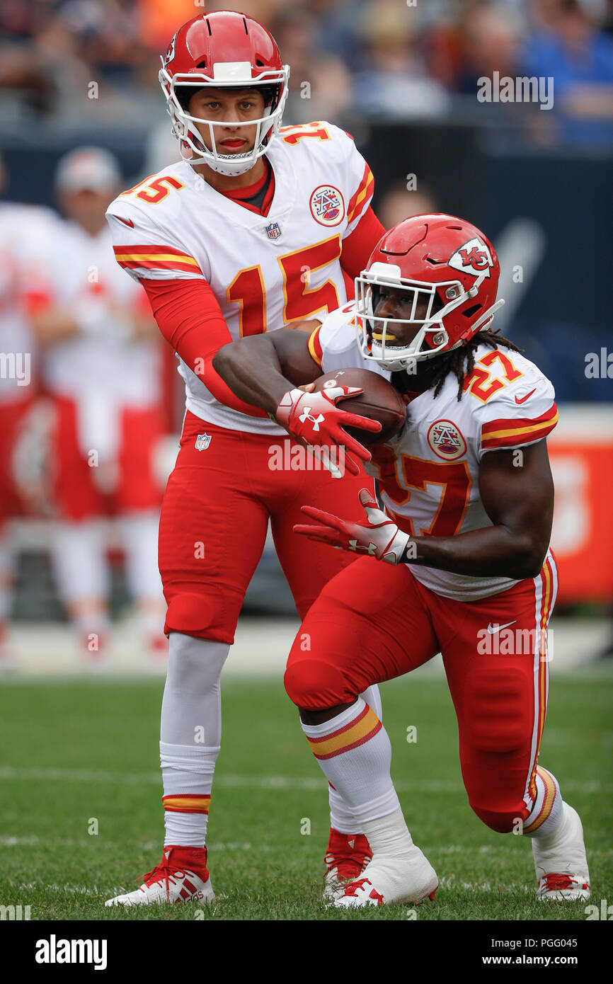 Illinois Usa 25 August 2018 Chiefs Quarterback 15