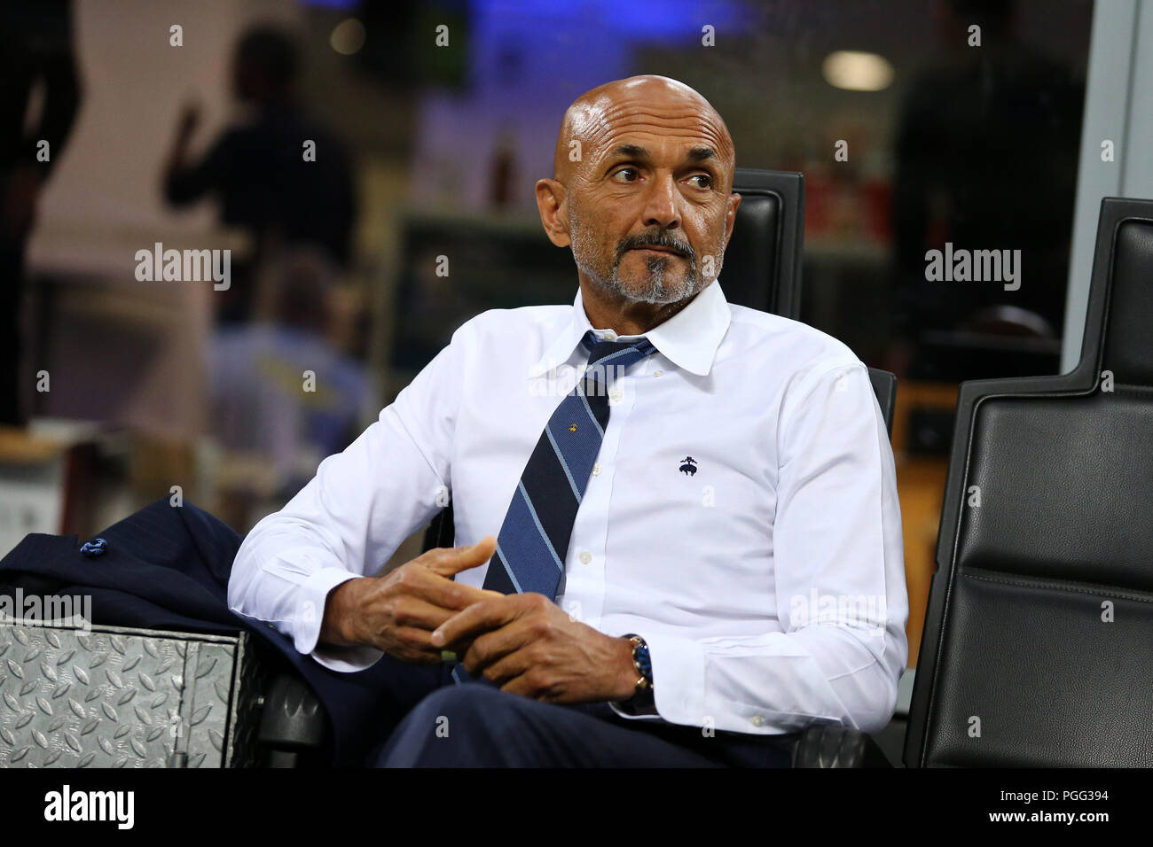 Milano, Italy. 26th August, 2018. Luciano Spalletti head coach of FC Internazionale look on before  the Serie A match between FC Internazionale and Torino Fc. Stock Photo