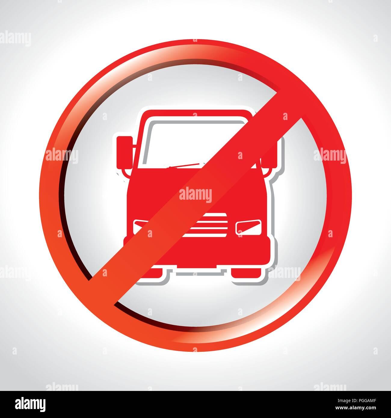 prohibited truck transit road - Stock Image