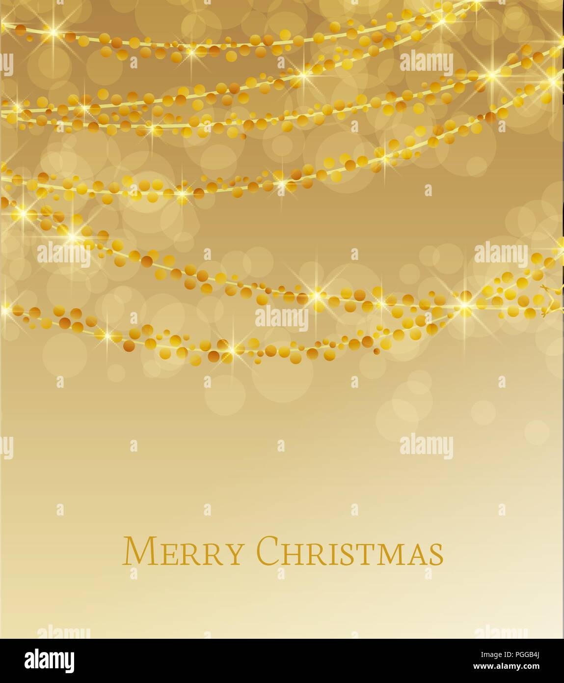 Christmas Background Images Gold.Vector Illustration Abstract Christmas Background Lights On