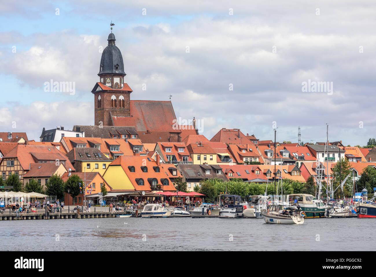 Waren an der Müritz, Mecklenburg-Vorpommern, Germany, Europe - Stock Image