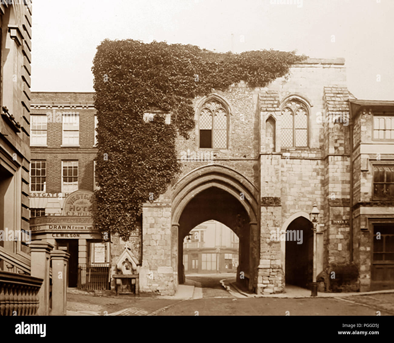 West Gate, Winchester, Victorian period - Stock Image