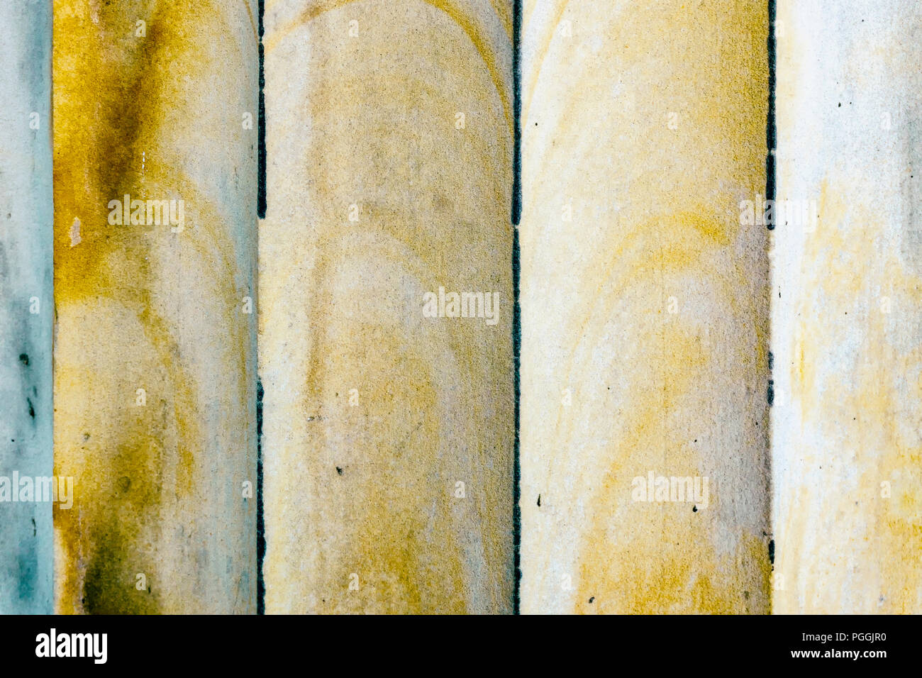 Berlin, Germany, August 11, 2018: Full Frame Close-Up of Column Grooves - Stock Image