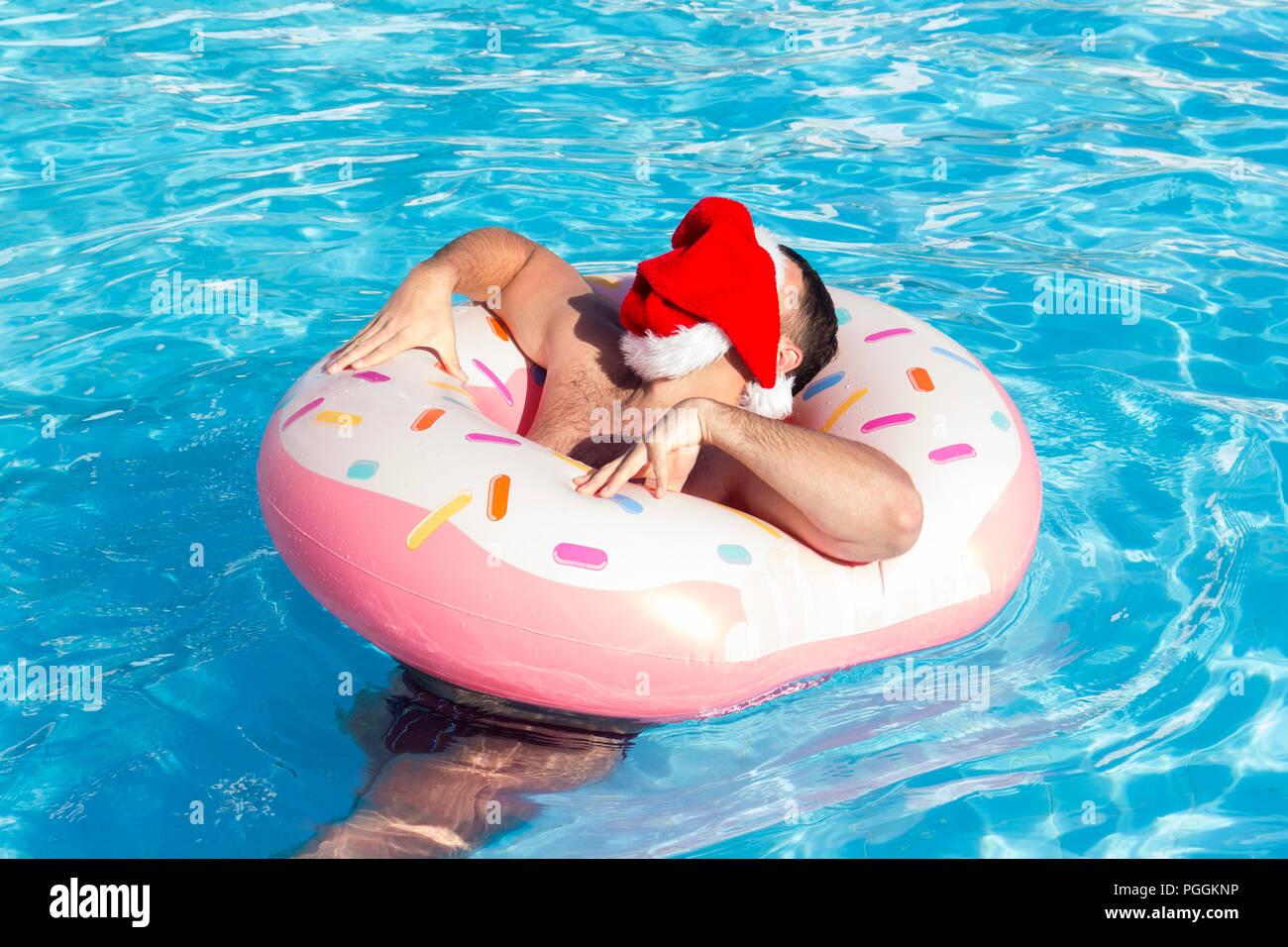 Christmas Themed Pool Floats.Christmas Pool Stock Photos Christmas Pool Stock Images