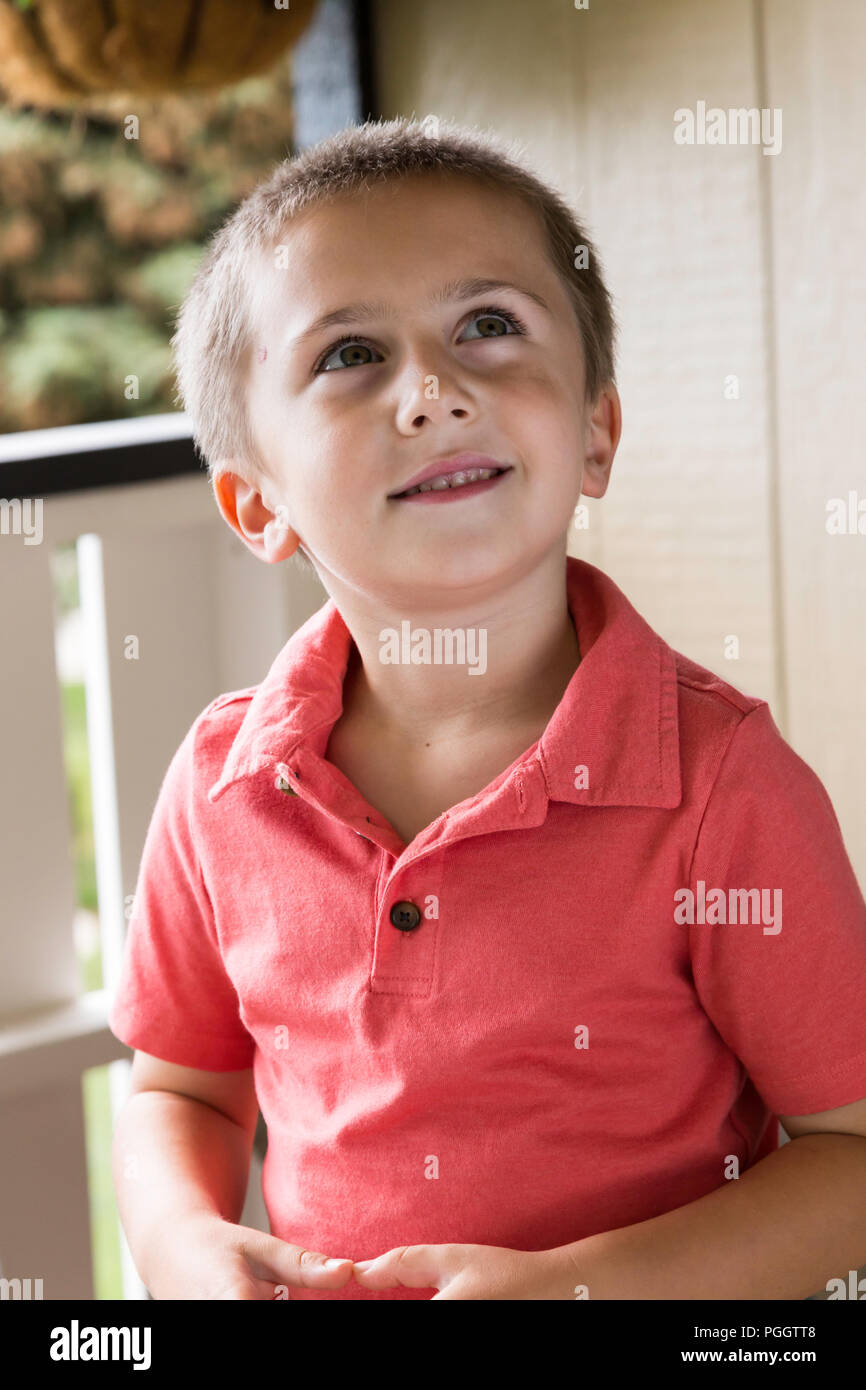 Five Year Old Boy, Mt, USA - Stock Image