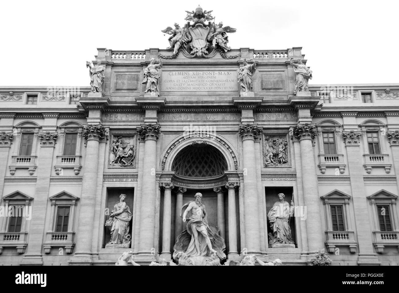 Trevi Fountain, Rome, Italy - Stock Image
