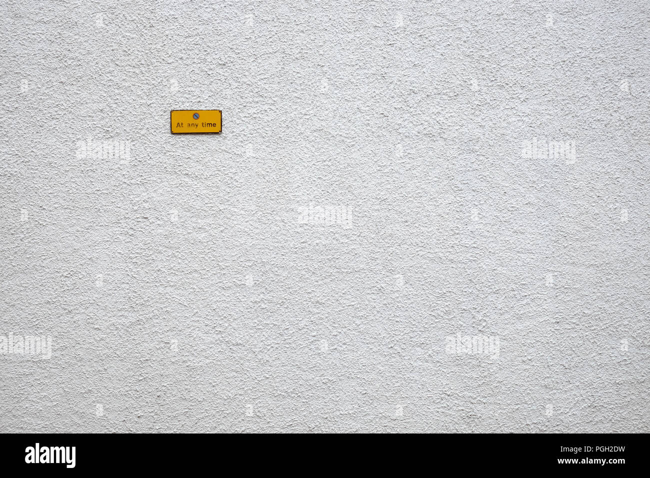 No parking sign on Abercorn Drive, Ballyclare, County Antrim, Northern Ireland. - Stock Image