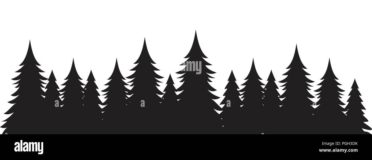 Background of pine trees graphic design template - Stock Vector