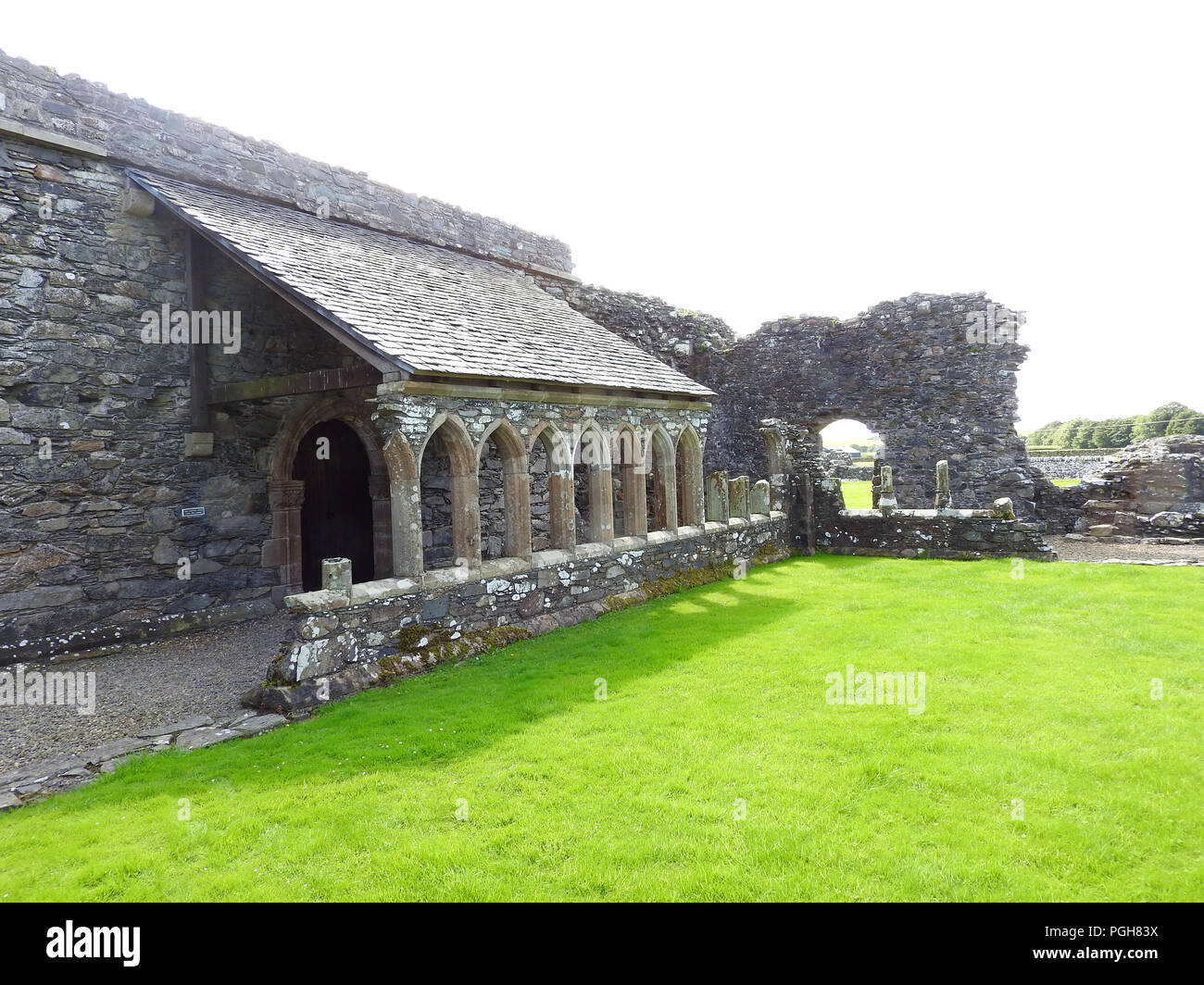 The Cloisters at Glenluce Abbey, Scotland - Stock Image