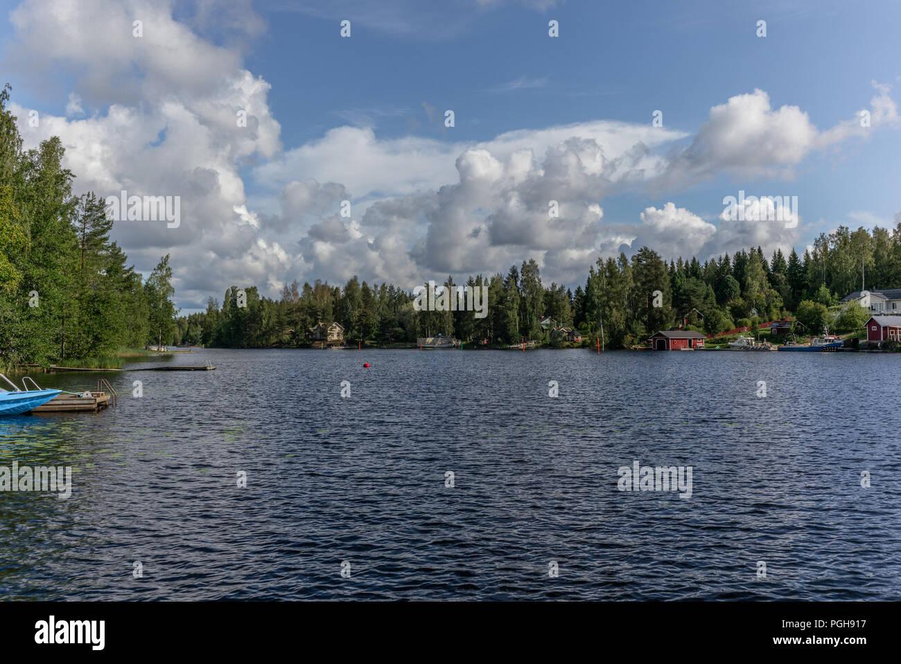 View of the typical Finnish village of Oravi  in summer - 1 Stock Photo