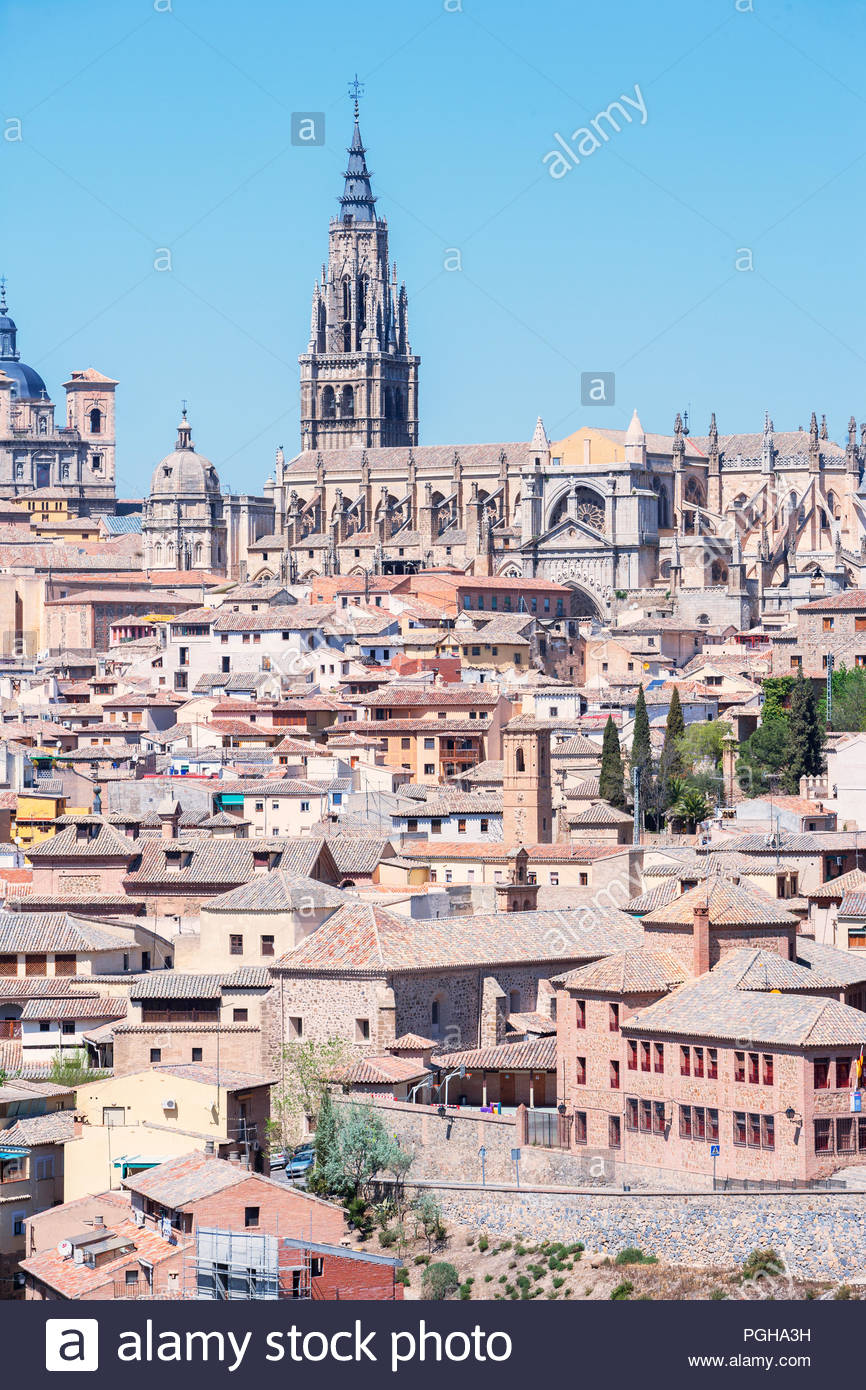 Toledo cityscape, Toledo, Castilla La Mancha, Spain - Stock Image