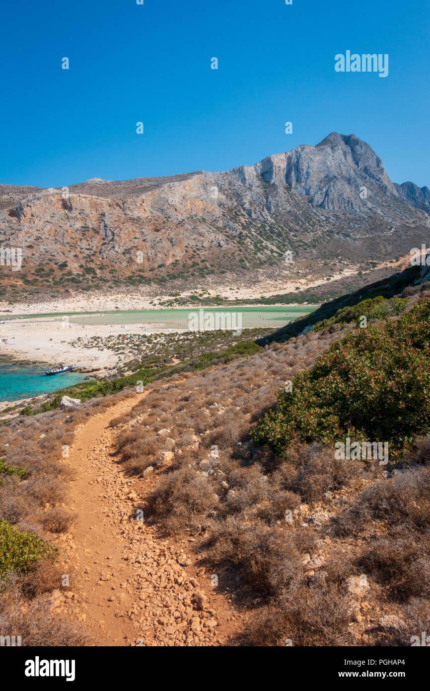 Balos Bay, Gramvousa peninsula, western Crete Stock Photo
