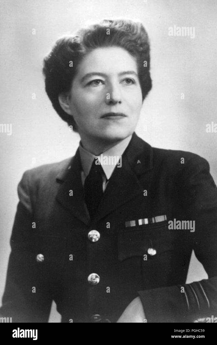 Vera May Atkins, (1908 – 2000) British intelligence officer who worked in the French Section of the Special Operations Executive (SOE) from 1941 to 1945 during the Second World War. - Stock Image