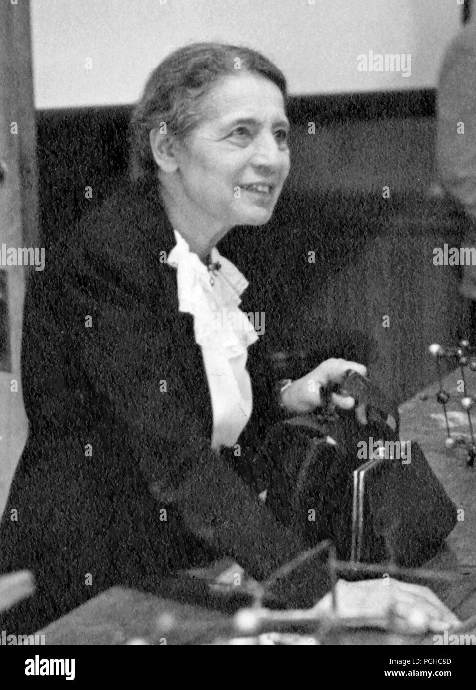 Lise Meitner (1878 – 1968) Austrian-Swedish physicist who worked on radioactivity and nuclear physics Stock Photo