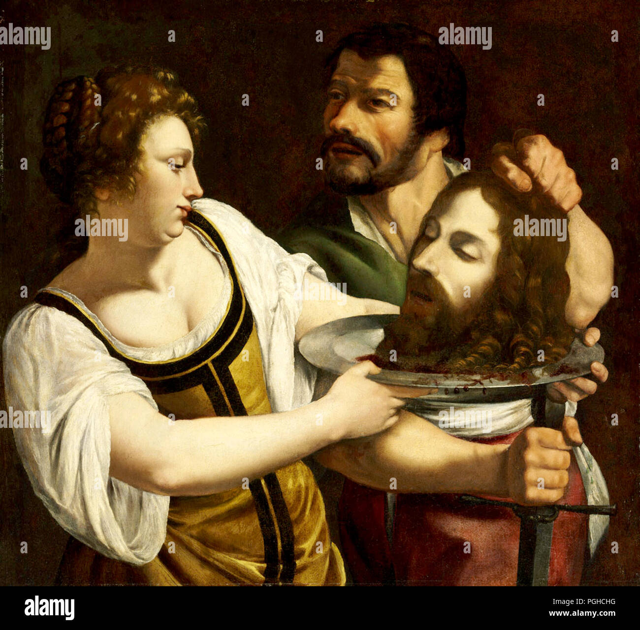 Salome with the Head of Saint John the Baptist by Artemisia Gentileschi - Stock Image