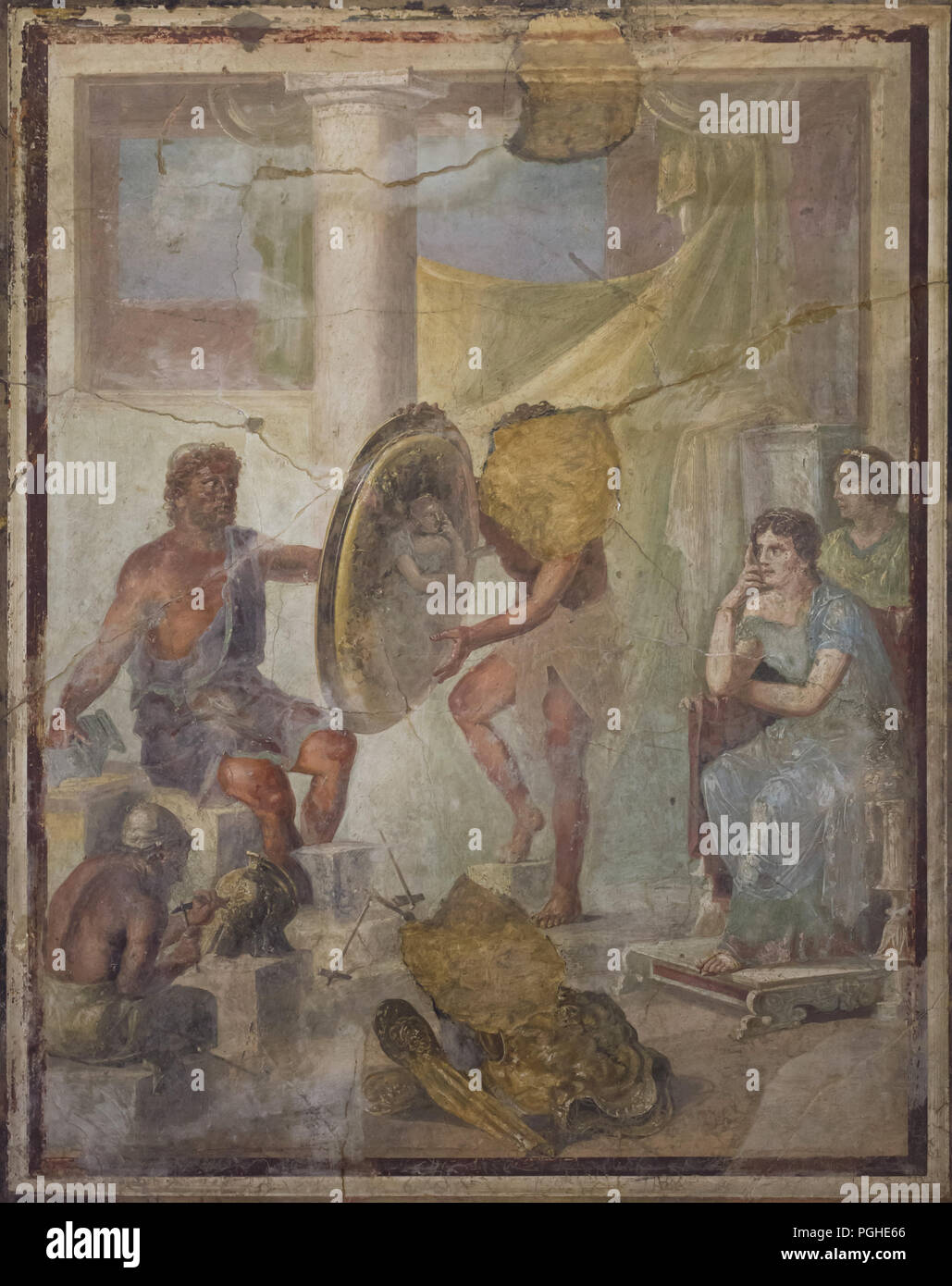 Hephaestus presenting the Arms of Achilles to Thetis