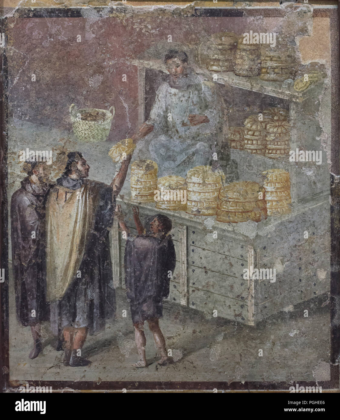 Roman Bakery Depicted In The Roman Fresco From In Pompeii Now On Display In The National Archaeological Museum Museo Archeologico Nazionale Di Napoli In Naples Campania Italy Stock Photo Alamy