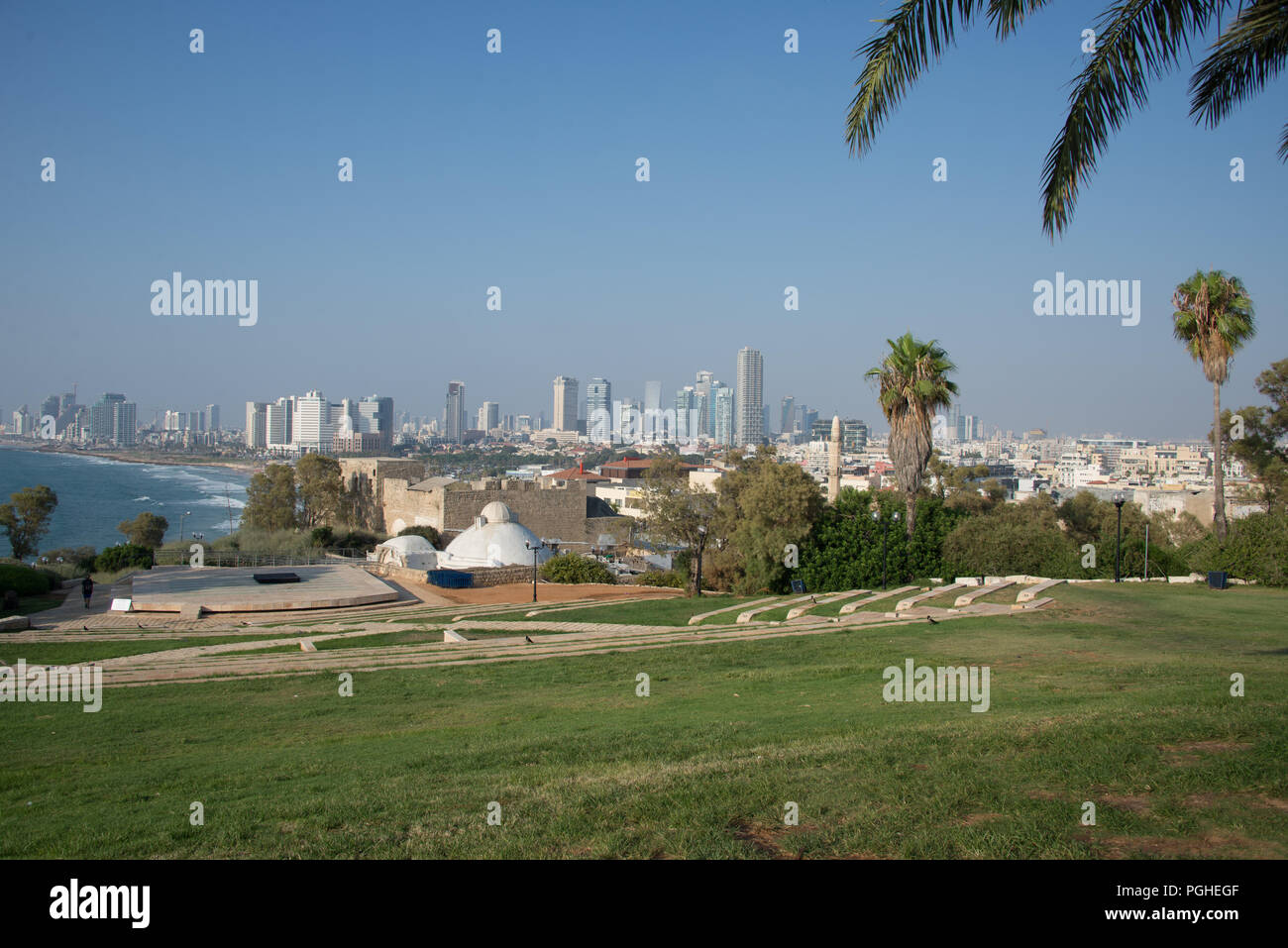 Amphitheater in Jaffa, Israel - Stock Image