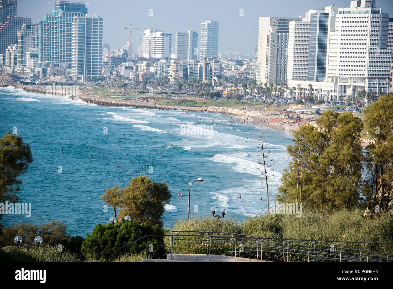 South Beach at Tel Aviv, Israel - Stock Image
