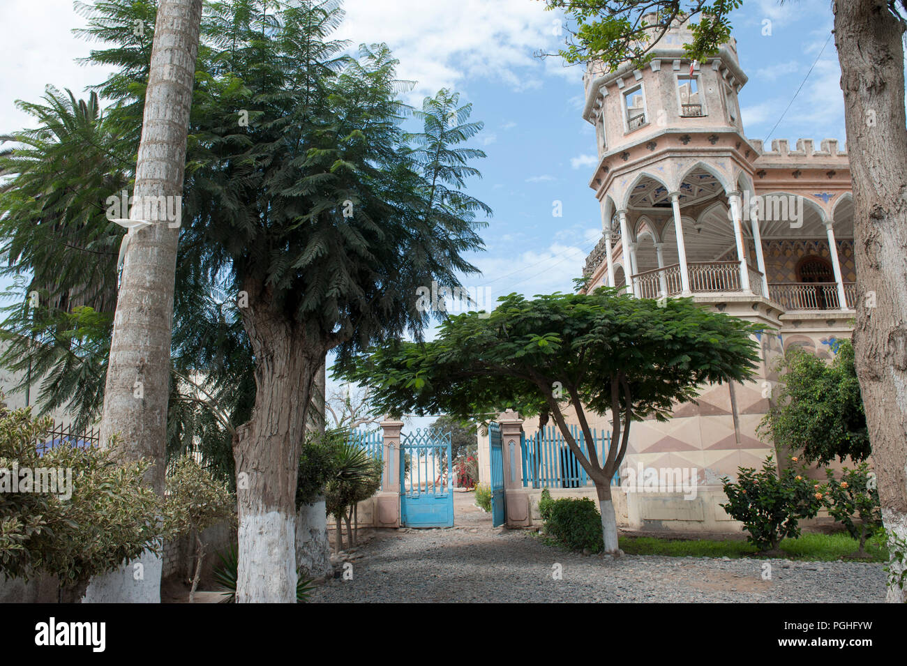Beautiful view of the castle of San Vicente de Ca ete, Lima. - Stock Image