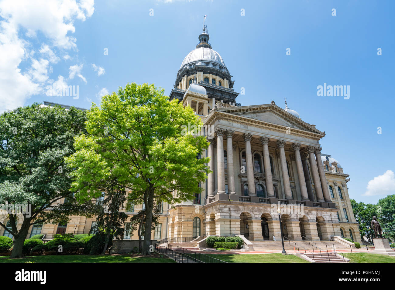 Illinois State Capital Building in Springfield, Illinois - Stock Image