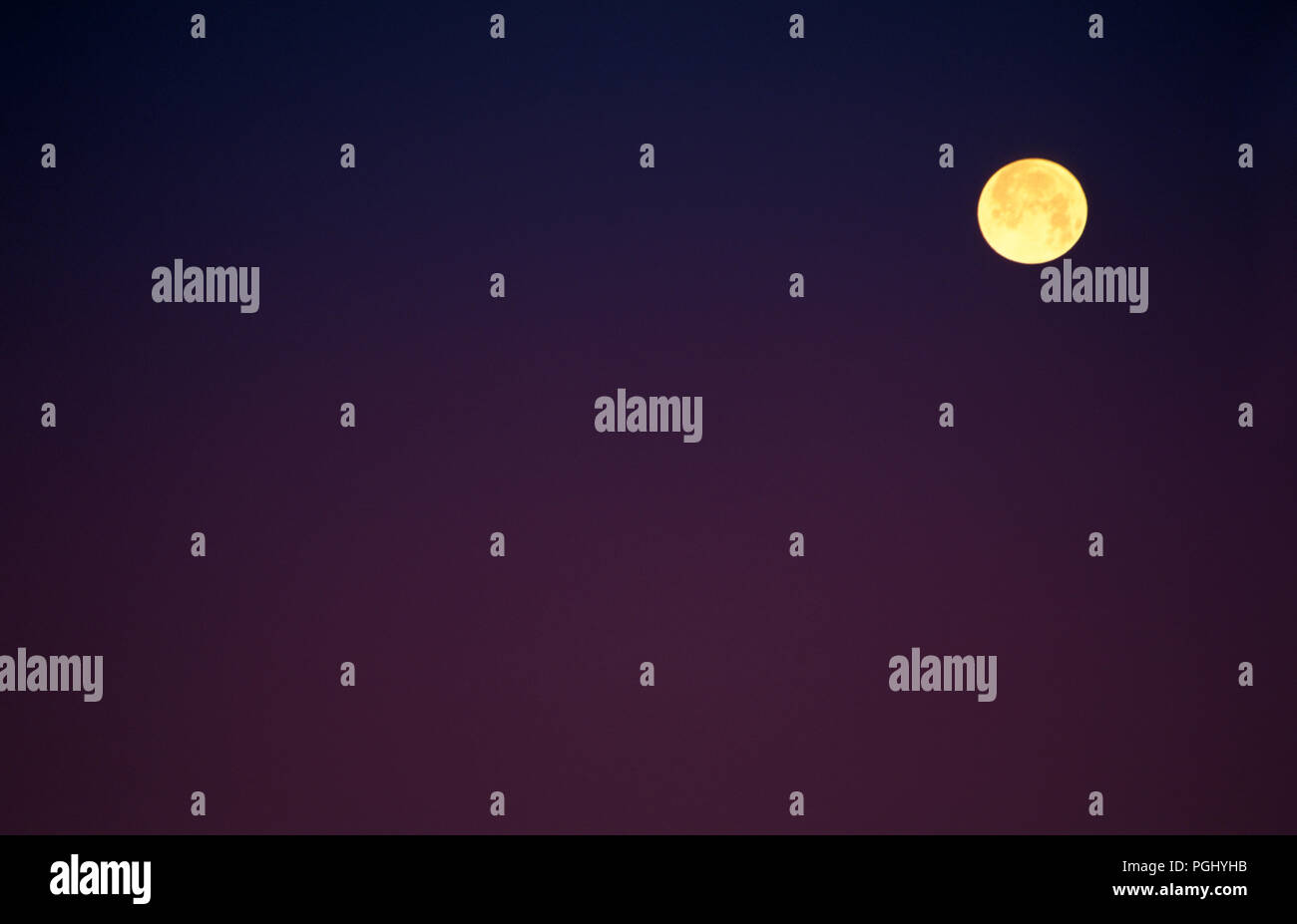 A FULL MOON SEEN FROM AUSTRALIA - Stock Image