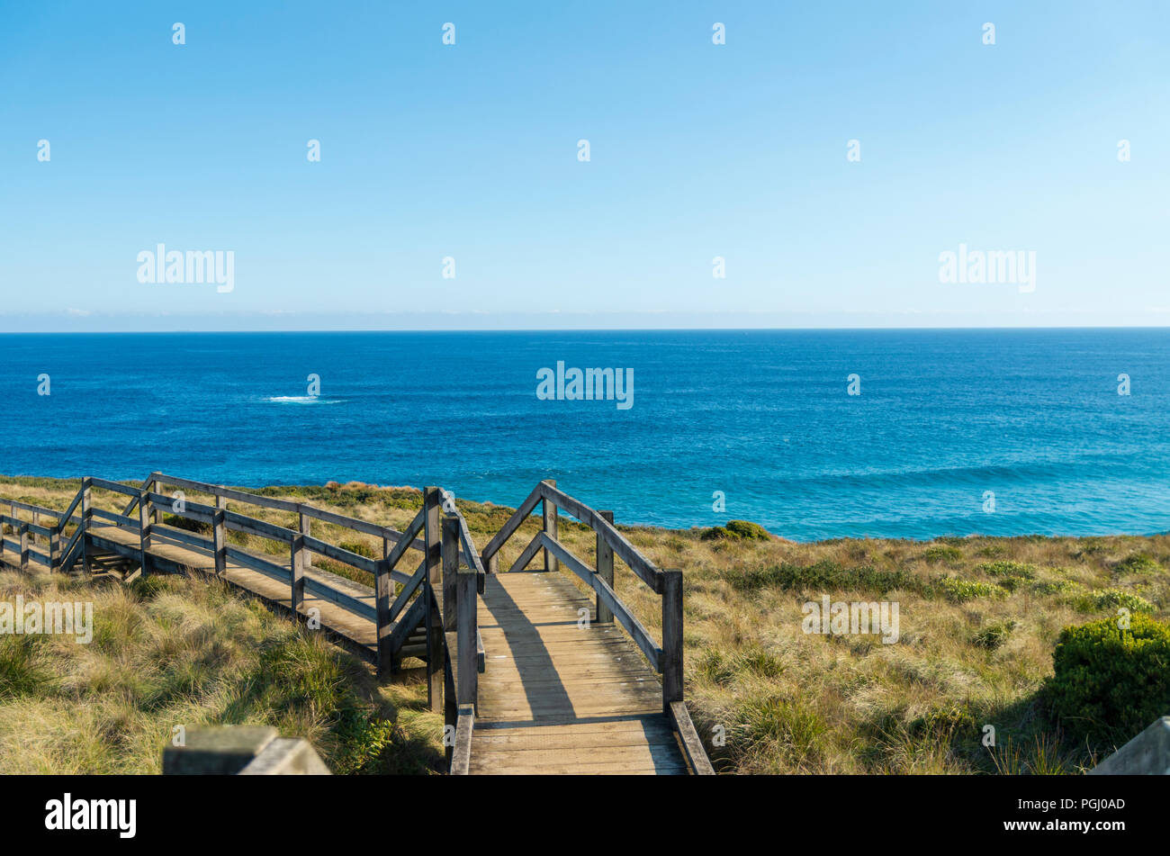 Phillip Island Victoria Australia at red bluff lookout - Stock Image