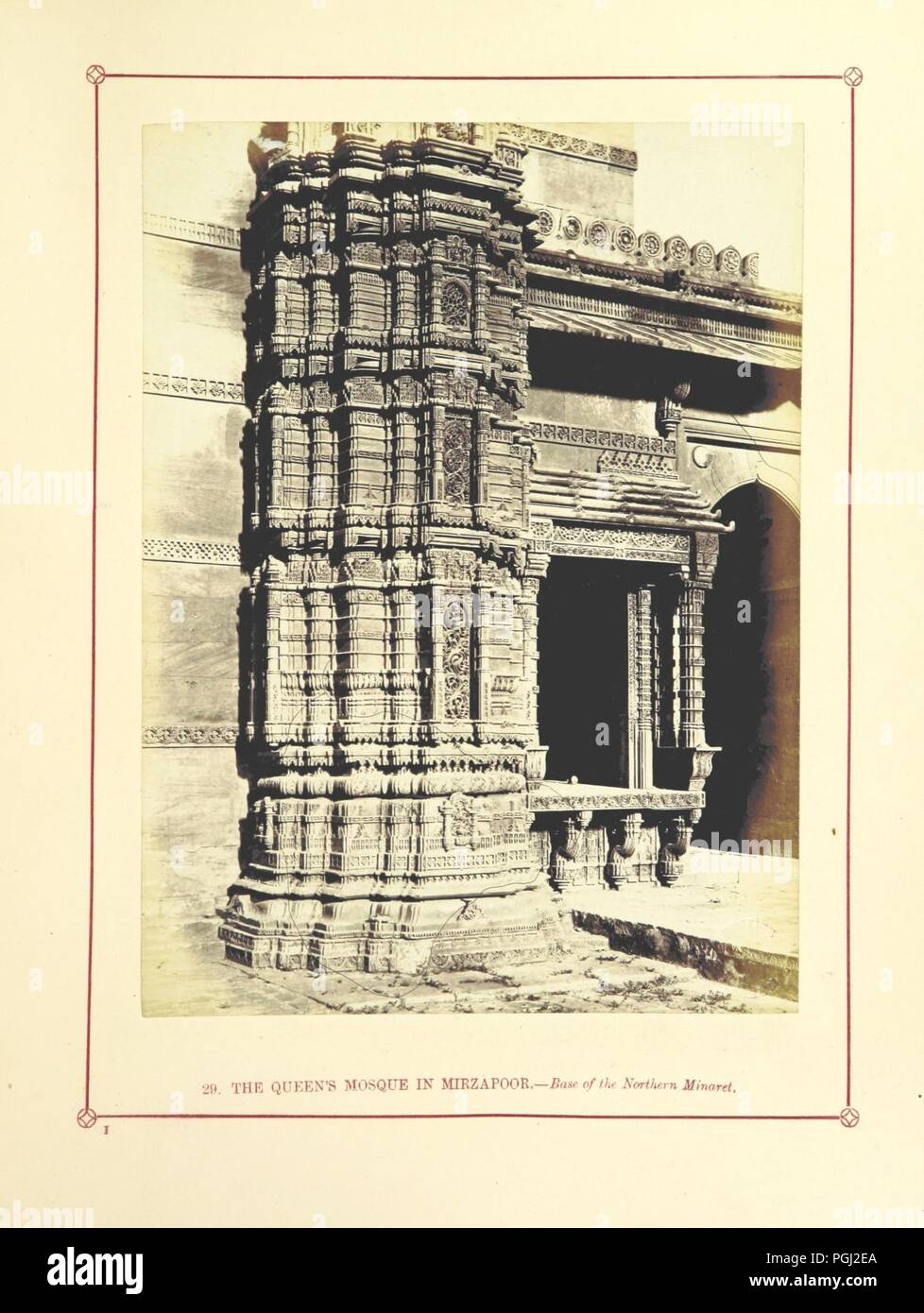 Image  from page 183 of 'Architecture at Ahmedabad, the Capital of Goozerat, photographed by Colonel Biggs, ... With an historical and descriptive sketch, by T. C. H., ... and architectural notes by J. Fergusson, etc' by The 0012. - Stock Image