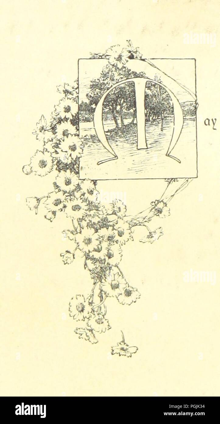 Image  from page 6 of 'A Pathway of Flowers, an album for autographs, and ... verses ... With an introduction [in verse] by Helen M. Waithman' . - Stock Image