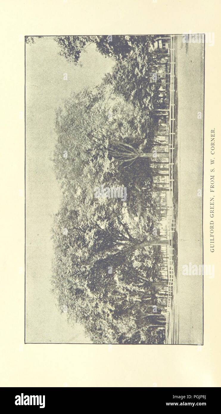 Image  from page 8 of '1639. Proceedings at the celebration of the 250th Anniversary of the settlement of Guilford, Conn., etc' . - Stock Image